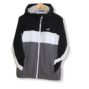 Hollister Mesh Lined Full-Zip Windbreaker SZ M